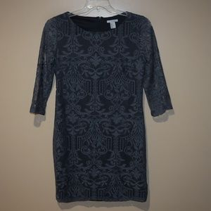 H&M Women's Sz M Gray Lace DRESS